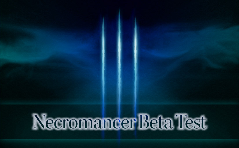 ディアブロ 3 ネクロマンサー・ベータ・テストにてネクロマンサーを設定する方法